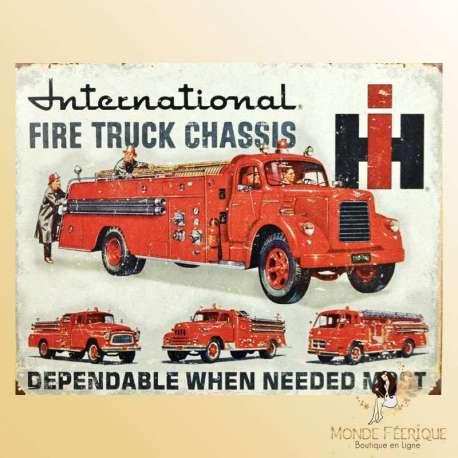plaque decoration pompier americain cadeau pompiers