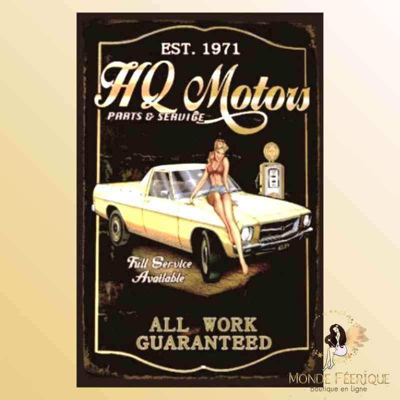 Plaque Mur Vintage Publicité americaine -- 20x30cm
