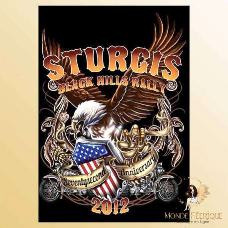 plaque decoration USA motos americaine