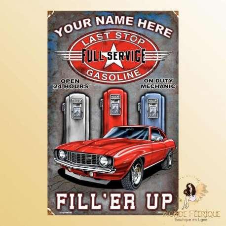 plaque decoration vintage voiture USA