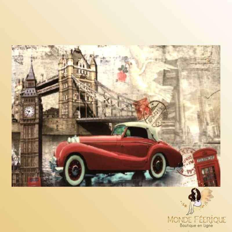 Plaque Mur Vintage Angletterre Londres -- 20x30cm