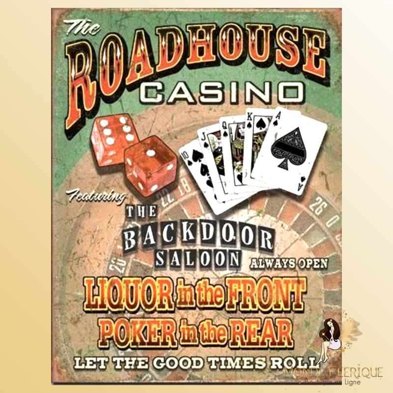 Plaque Mur Vintage Casino Poker Jeux -- 20x30cm