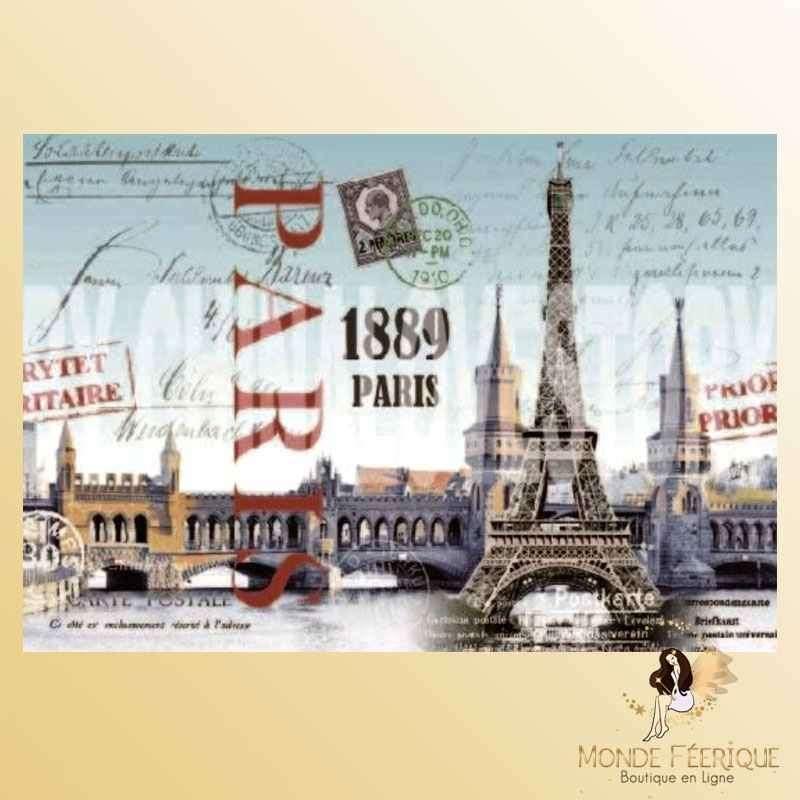 Plaque Décoration Vintage Paris Ancien 1889