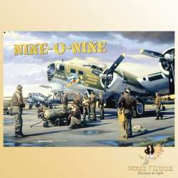 plaque metallique armee USA militaire vintage retro