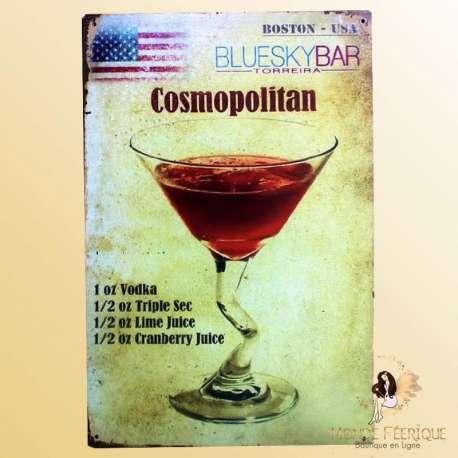 plaque metallique cocktail bar Plaque Déco Vintage -- 20x30cm