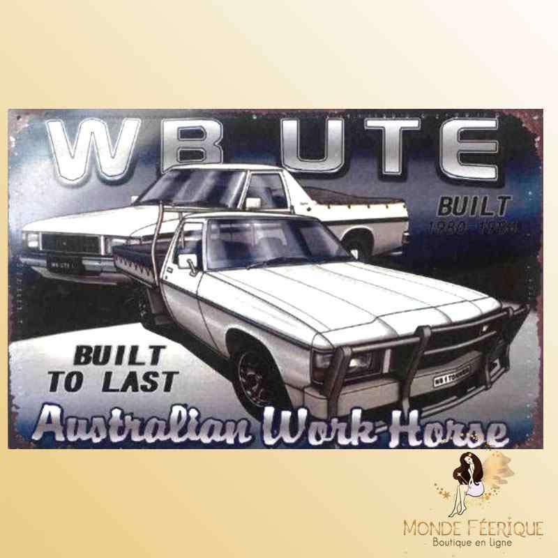 Plaque Déco Vintage Voiture Australienne -- 20x30cm