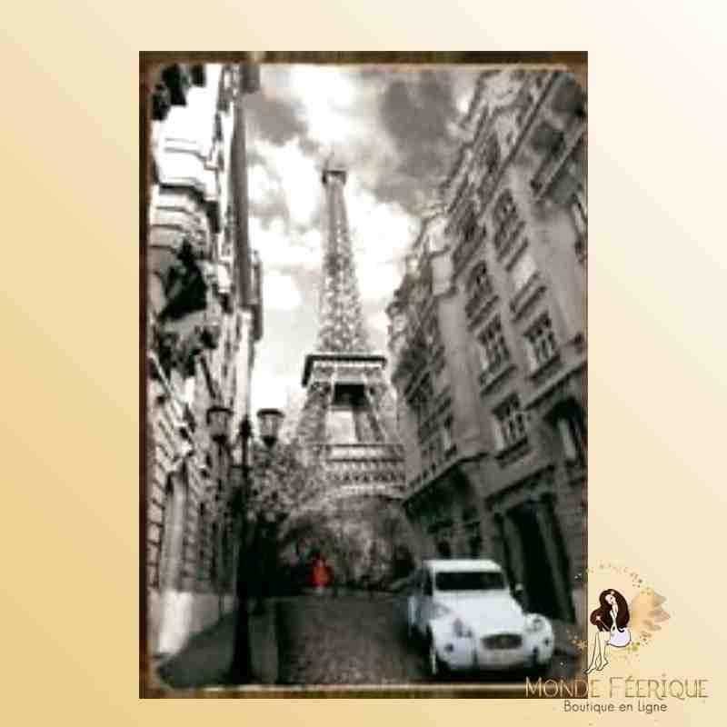 Plaque Déco Mur Paris Noir & Blanc -- 20x30cm