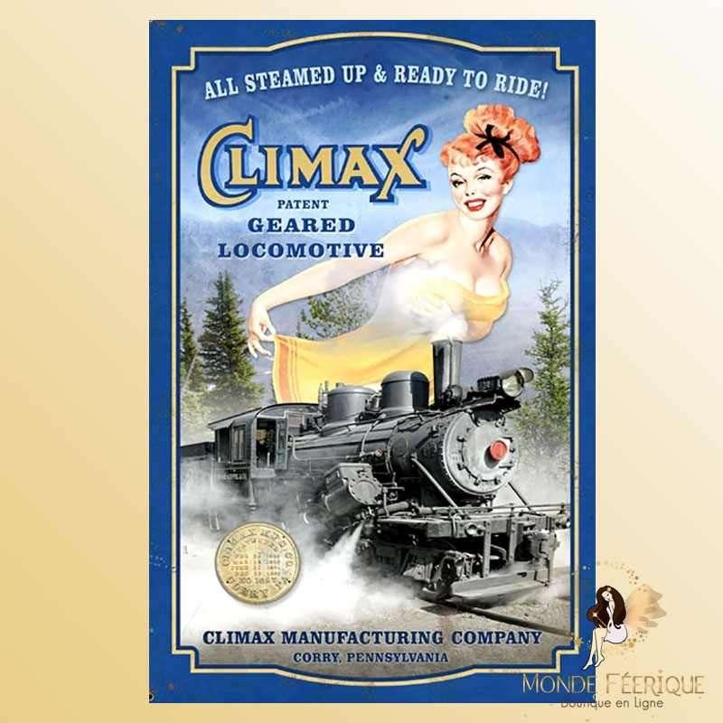 Plaque Déco Mur Locomotive Vintage -- 20x30cm
