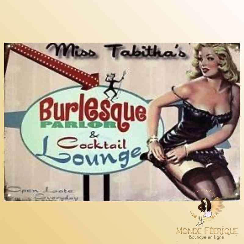 Plaque Déco Mur Lounge Vintage -- 20x30cm
