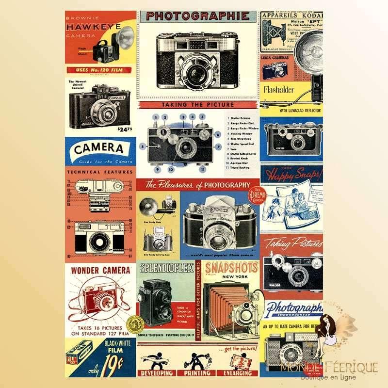Plaque Déco Mur Photos Vintage -- 20x30cm