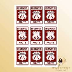 plaque publicitaire route 66 USA decoration vintage USA