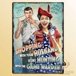 plaque publicitaire vintage retro americain USA couple