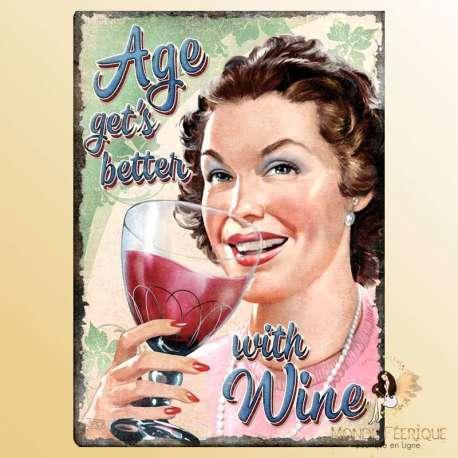 plaque publicite vintage mur vin bar boire alcool retro