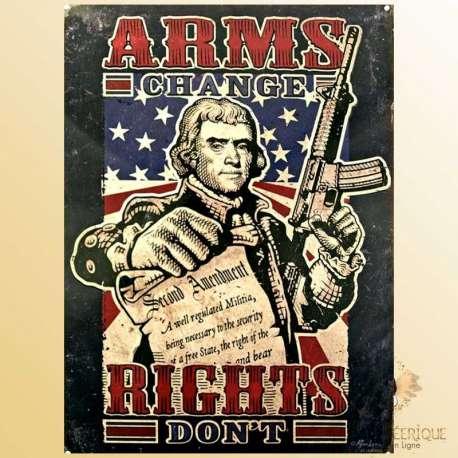 plaque retro americaine guerre secession USA plaque vintage mur
