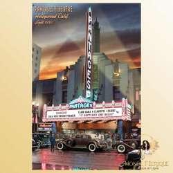 Plaque Déco Mur Pantages Theatre LA -- 20x30cm