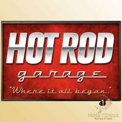 Plaque Déco Mur Hot Rod Garage -- 20x30cm
