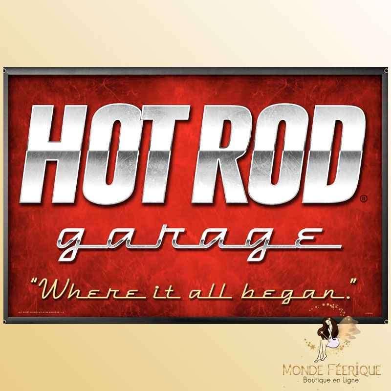 Plaque Déco Mur Hot Rod Garage -- 20x30cm