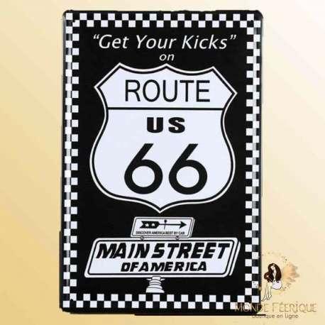 plaque retro route 66 Plaque Déco Mur -- 20x30cm