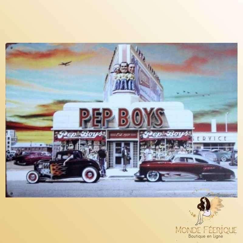 Plaque Déco Mur Pep Boys -- 20x30cm