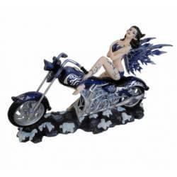 Figurine Fée Géante avec Moto -- 36cm