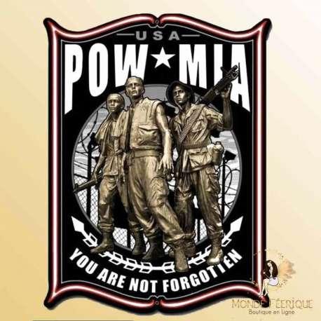 plaque vintage retro armee americaine MIA militaire americain