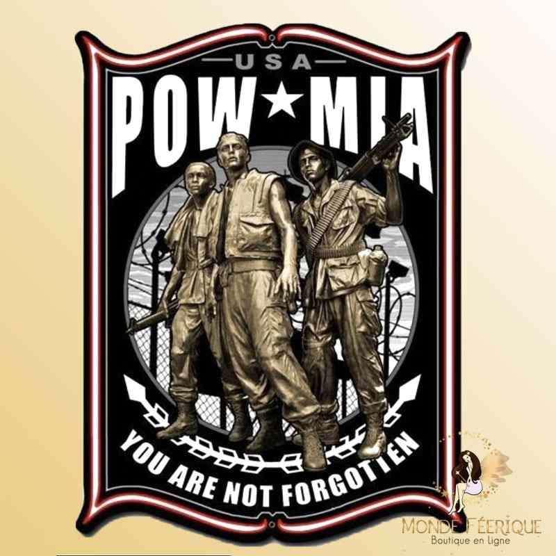 Plaque Metal Déco MIA armée Americaine