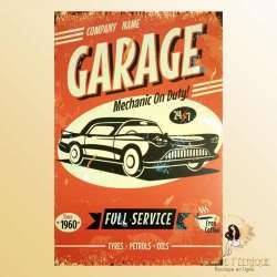 plaque vintage retro garage
