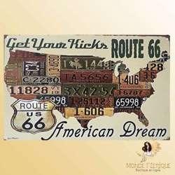 plaque vintage USA American Dream