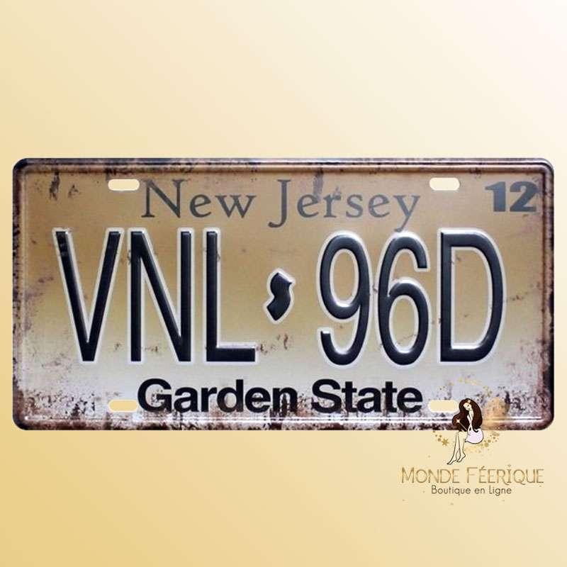 Plaque Décoration Vintage New Jersey