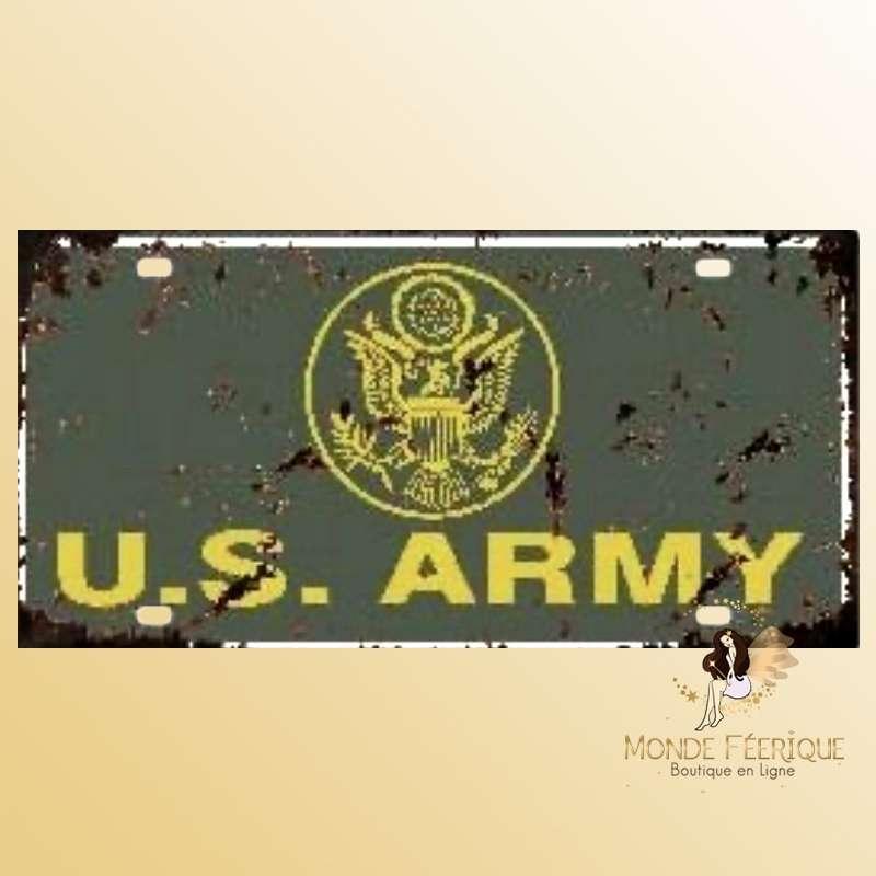 Plaque Décoration Vintage Armée USA