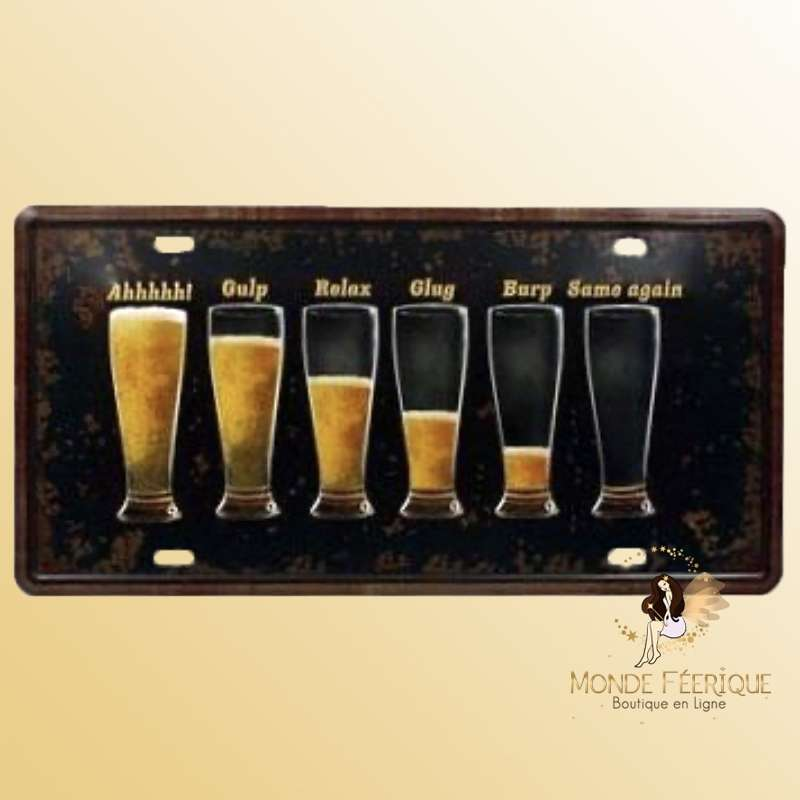 Plaque Décoration Vintage bieres