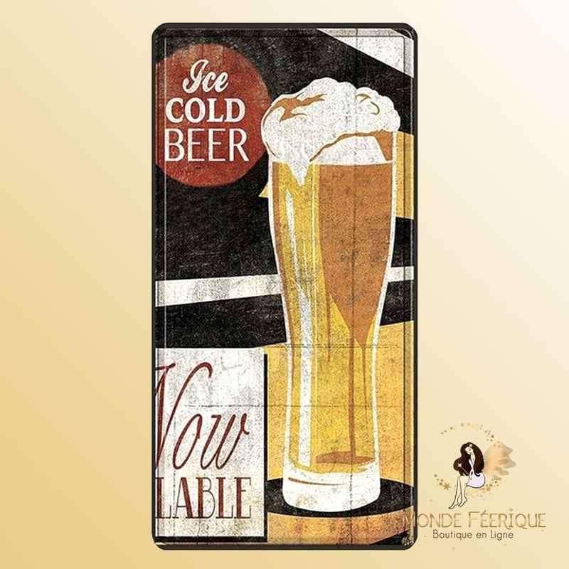 Plaque Metallique Vintage Bieres