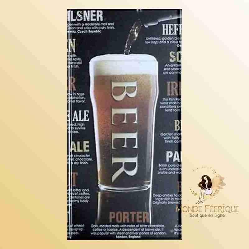 Plaque Décoration Rétro Bieres ou Beer