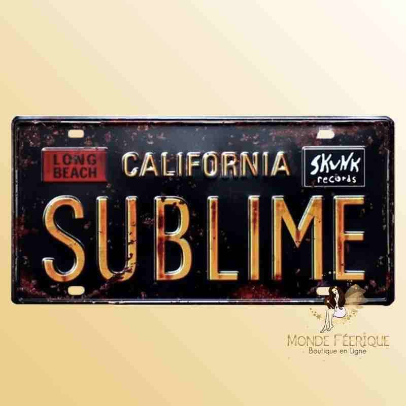 Plaque Décoration Vintage Californie
