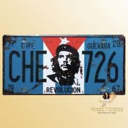 che gevara decoration plaque metal vintage