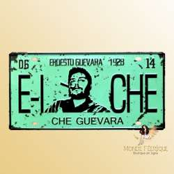 che gevara decoration plaque metal voiture vintage