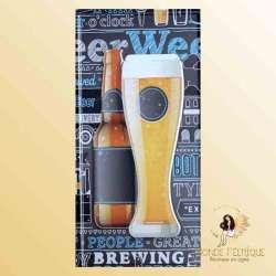 Plaque Déco Vintage Bieres Bouteille