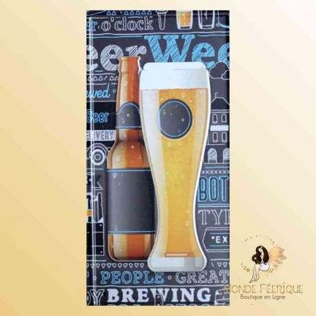 déco biere plaque murale