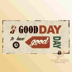 decoration plaque vintage positif energie bonne journée