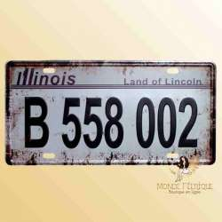 immatriculation voiture americaine décoration usa plaque vintage