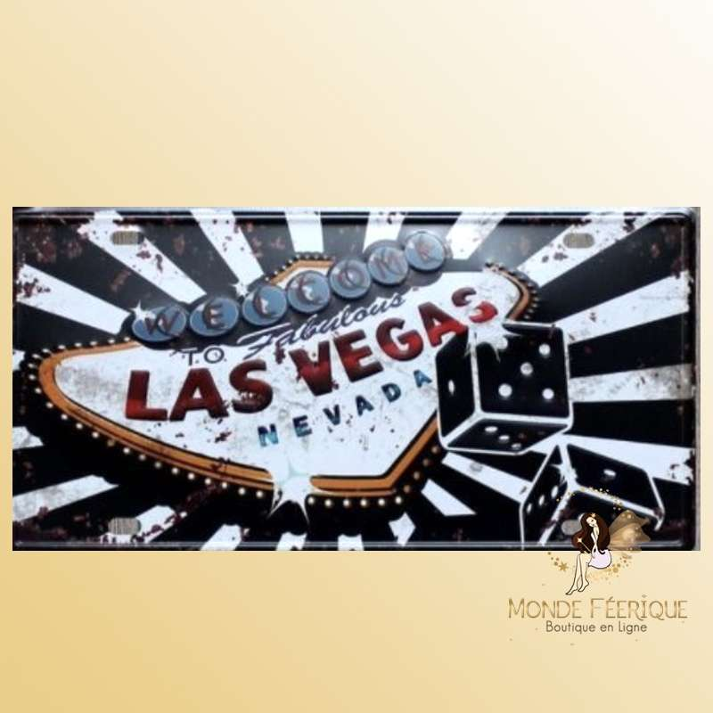 Plaque Déco Vintage Welcome to Las Vegas