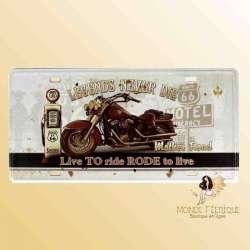 Plaque Déco Vintage Ancienne Motos USA