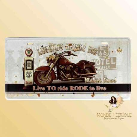 motos americaine biker deco vintage plaque metal mur