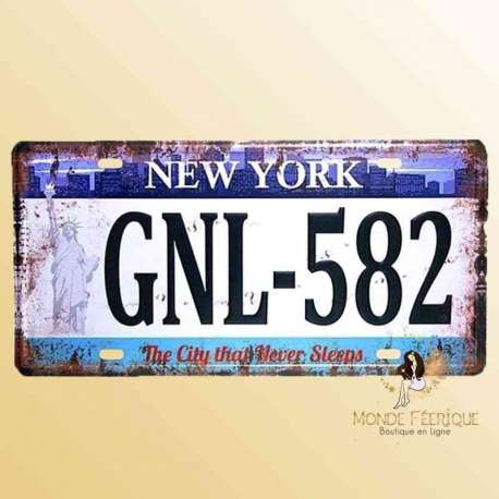 new york nyc plaque vintage voitures americaine decoration