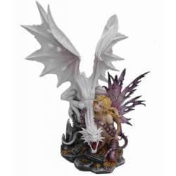 Figurine Fée Geante Merveilles & Dragon -- 58cm