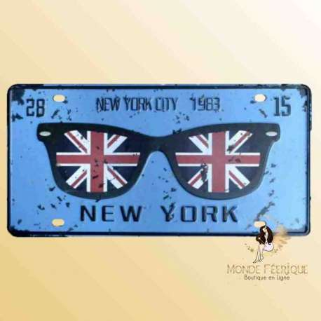 Plaque Déco Vintage new york plaque metal vintage deco
