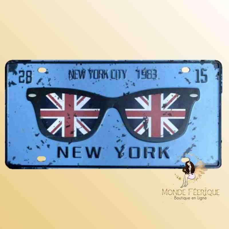 Plaque Déco Vintage NYC