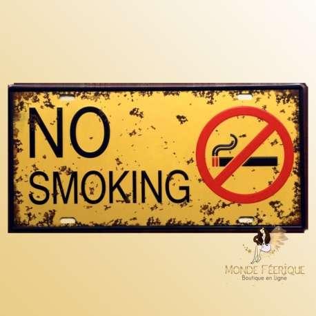 no smoking interdit fumer plaque deco metal decoration