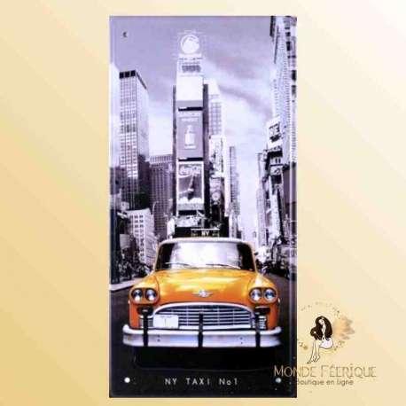 Plaque Déco Vintage nyc new york decoration plaque vintage taxis jaunes