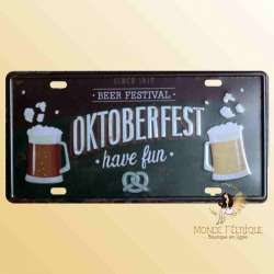octoberfest decoration fete de la biere plaque en metal vintage mur